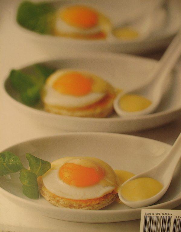 quail eggs with mustard hollandaise
